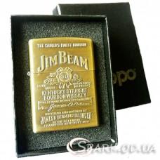"""Подарочная бензиновая зажигалка  №254 """"Jim Beam"""""""