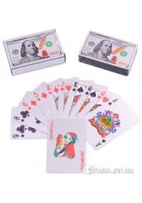 Пластиковые игральные карты $  № 408-4 Silver