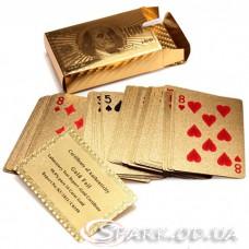 Пластиковые игральные карты Доллар №11-4 Gold
