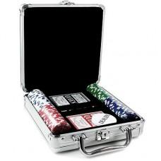 Набор для покера на 100 фишек в кейсе  №702-7