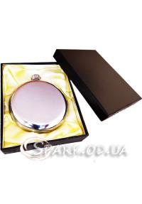Фляжка подарочная металлическая круглая/чистая 8oz № 8-48