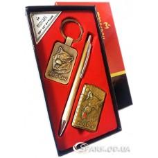 Подарочный набор ручка/брелок/зажигалка № 3-9B