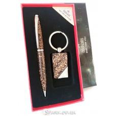 """Подарочный набор """"Moongrass"""" ручка/брелок  № RJ7189"""