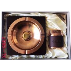 Подарочный набор пепельница и зажигалка № XL-0657