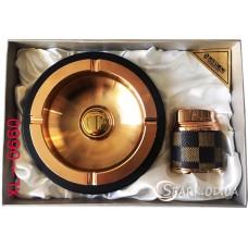 Подарочный набор пепельница и зажигалка № XL-0660