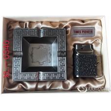 Подарочный набор пепельница и зажигалка Pioneer № XL-0340