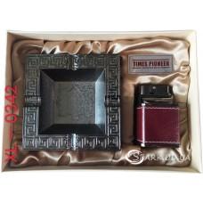 Подарочный набор пепельница и зажигалка Pioneer № XL-0342