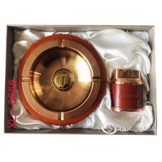 Подарочный набор пепельница и зажигалка № XL-0656