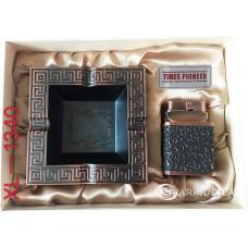 Подарочный набор пепельница и зажигалка Pioneer № XL-1340