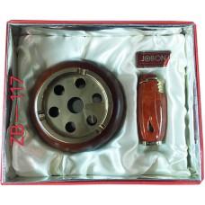 Подарочный набор пепельница и зажигалка Jobon № ZB-117