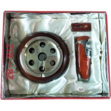 Подарочный набор пепельница и зажигалка Jobon № ZB-812
