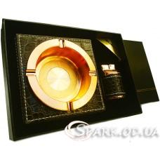 Подарочный набор пепельница и зажигалка Borui № YR14-43