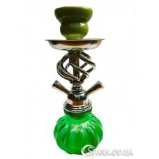 Кальян маленький на две трубки, 28 см. №YR18-10 Зеленый