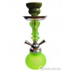 Кальян маленький на две трубки, 30 см. №YR18-11 Зеленый
