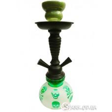 Кальян маленький на две трубки, 30 см. №YR18-9 Зеленый
