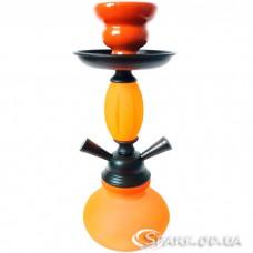 Кальян маленький на две трубки, 29 см. №3-15 Оранжевый