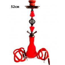 Кальян средний на две трубки, 52 см. №13-4 Красный