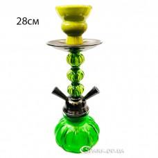 Кальян маленький на две трубки, 28 см. №YR 5-10 Зеленый