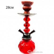 Кальян маленький на две трубки, высотой 28 см. №YR 5-10 Красный