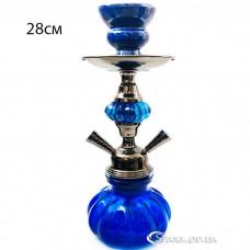 Кальян маленький на две трубки, высотой 28 см. №YR 5-8 Синий