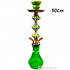 Кальян средний на две трубки, 50 см. № J-021 Зеленый