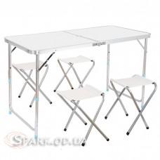 Туристический набор складной стол + 4 стула № С-2