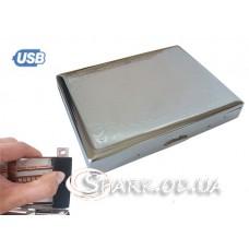 Портсигар 20с. с USB зажигалкой № YR 2-19