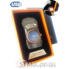 USB-зажигалка/часы двухсторонняя № YR 2-4
