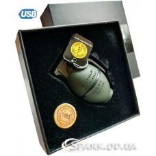 USB зажигалка/граната  №33319