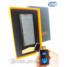 "USB зажигалка сенсорная № YR 4-12 ""Ukraine"""