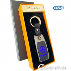 """USB-зажигалка/авто ключ/ фонарь № 1-62 """"Мерседес"""""""