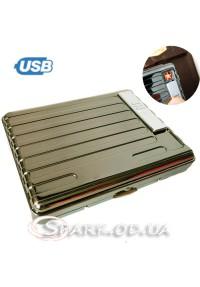 Портсигар с USB зажигалкой № 33350