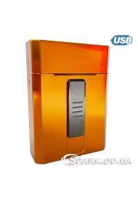 Портсигар с USB зажигалкой № DH-9009