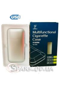 Портсигар с USB зажигалкой № DH-606