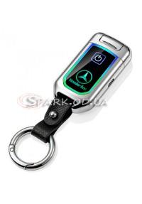 USB зажигалка импульсная\брелок № 258