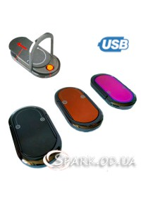 USB зажигалка с подставкой под телефон № 33370