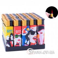 Многоразовая пластиковая зажигалка № 909-17