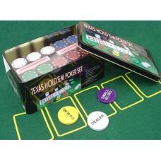 Набор для покера 200 фишек №702-3